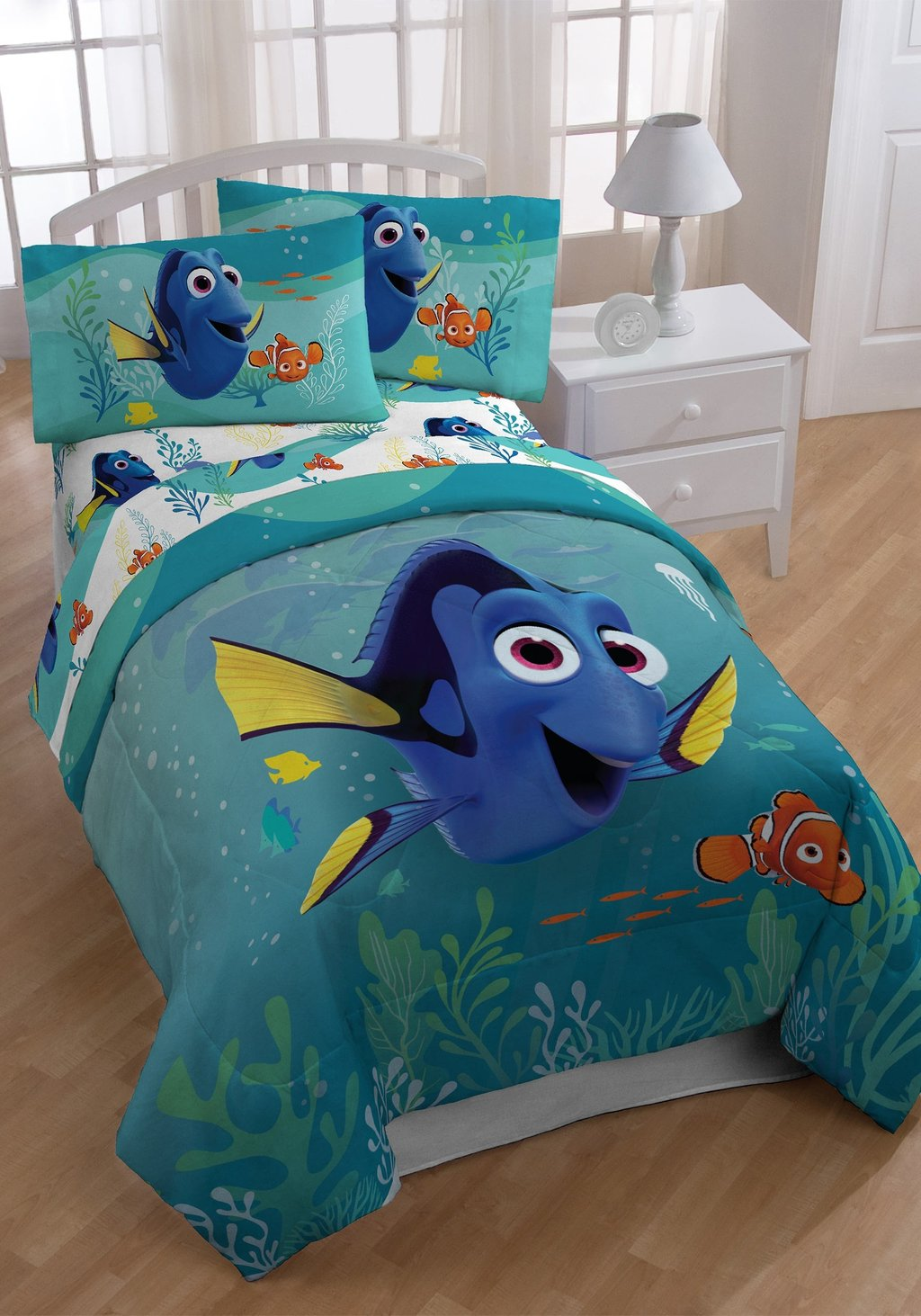 Image of: Finding Nemo Bedding Full Bedding Set Collection Black and White Crib Bedding Set