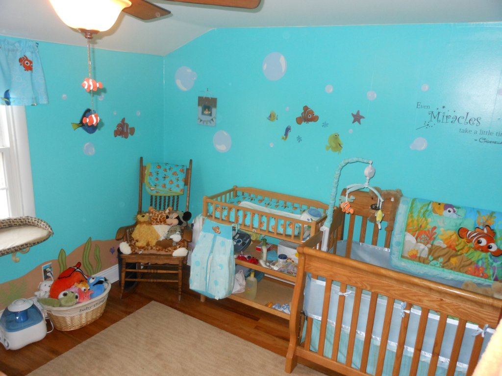 Image of: Finding Nemo Nursery Decor Thenurseries Black and White Crib Bedding Set