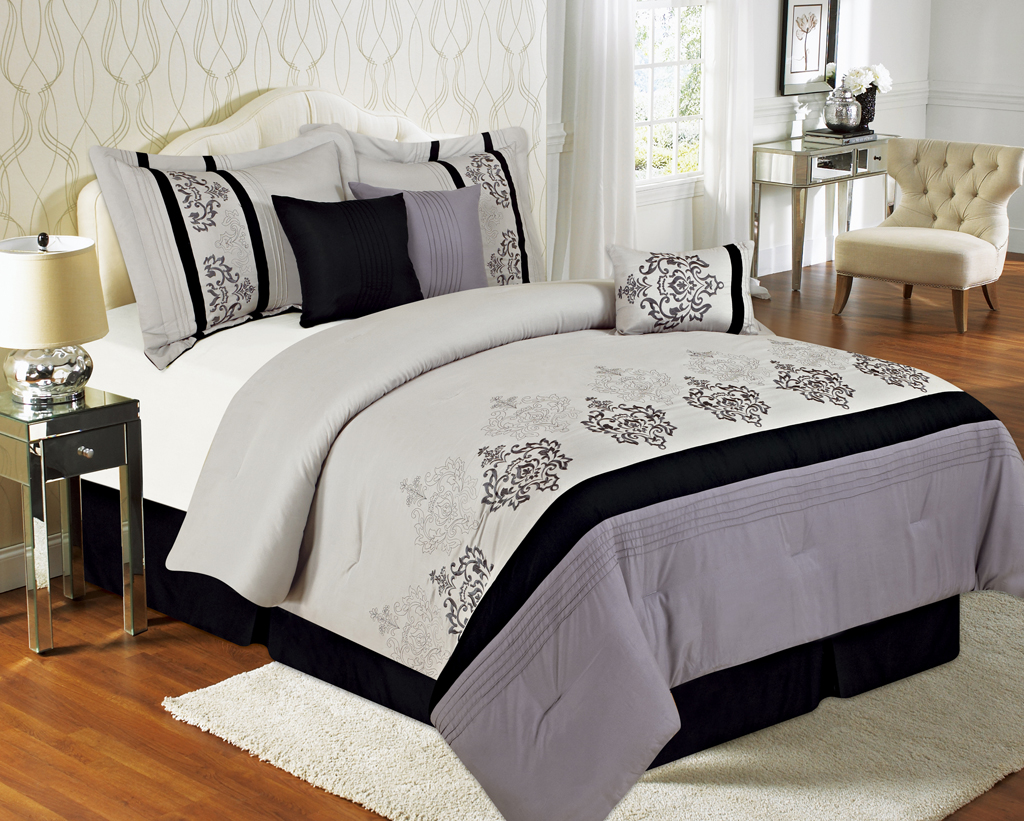 Image of: Gray Bedding Target Color Combine