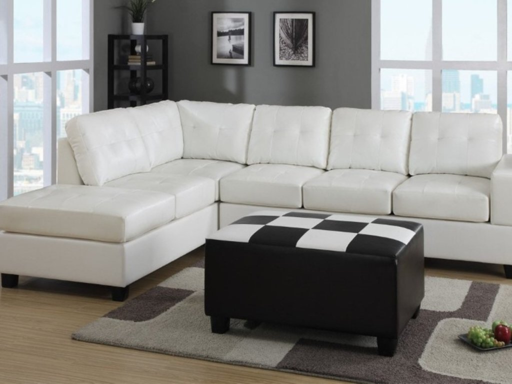Image of: Leather Sleeper Sectional Sofa Bed Leather Sleeper Sectional Sofa Bed Interior Exterior Door Black and White Crib Bedding Set