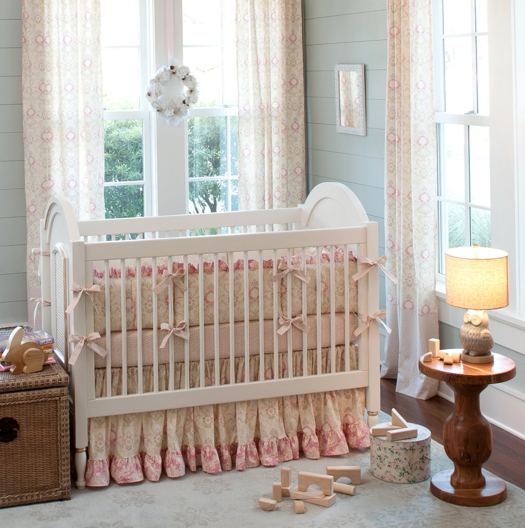 Image of: Nursery Bedding Curtain Set Home Design Idea Black and White Crib Bedding Set