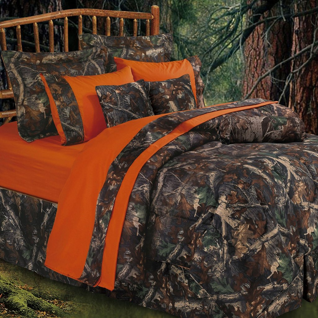 Image of: Oak Camo Camouflage Rustic Comforter Bed Set Awesome Rustic Bedding Sets
