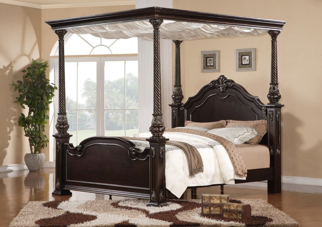 Image of: Queen Canopy Bed Tedx Design Bright Ideas for Metal Bed Frame Sets