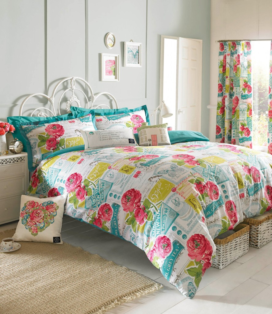 Image of: Rainbow Colored Comforter Sets