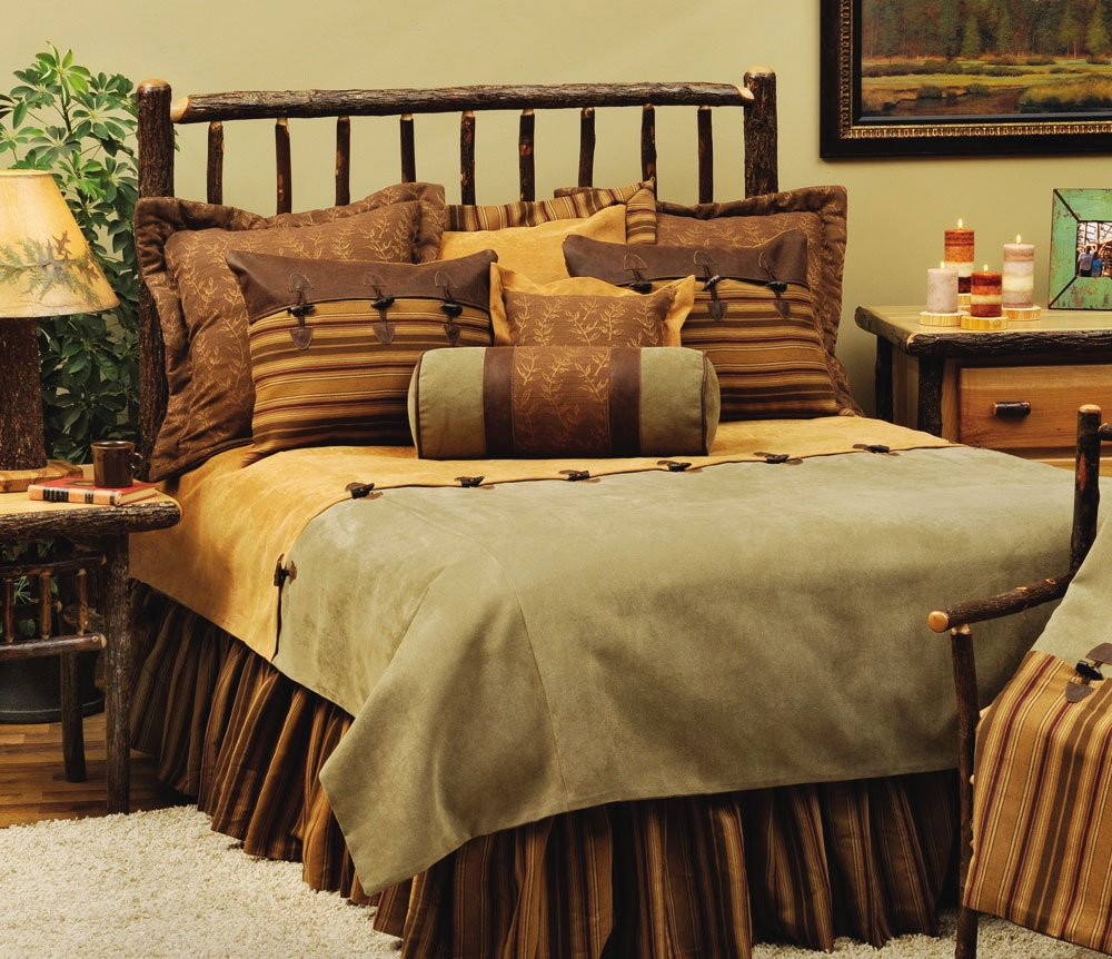 Image of: Rustic Cabin Furnishing Luxury Bedding Awesome Rustic Bedding Sets