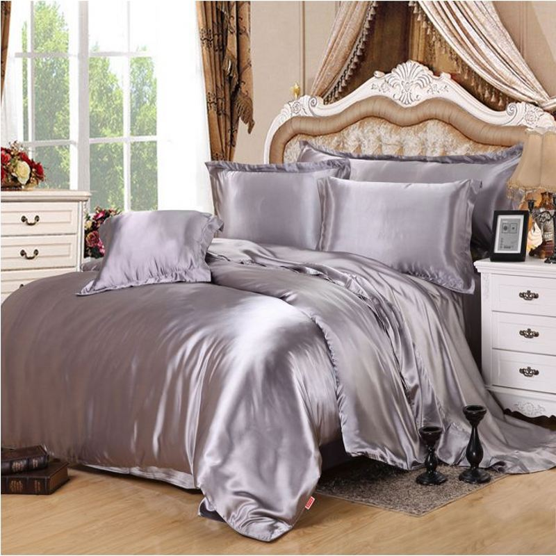 Image of: Stylish Silk Luxury Bedding