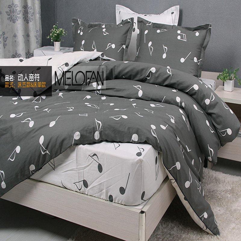 Image of: 2018 Modern Music Note Bedding Set 100 Cotton Duvet Themed Music Note Bed Set