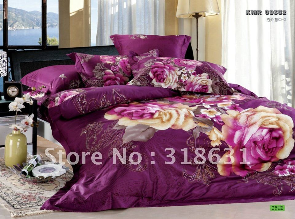 Image of: 502 Bad Gateway Ideas Purple Bedding Sets Queen