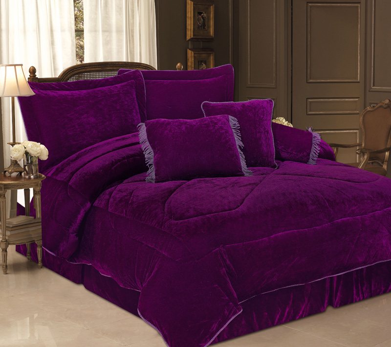 Image of: Beautiful Purple Bedding Set