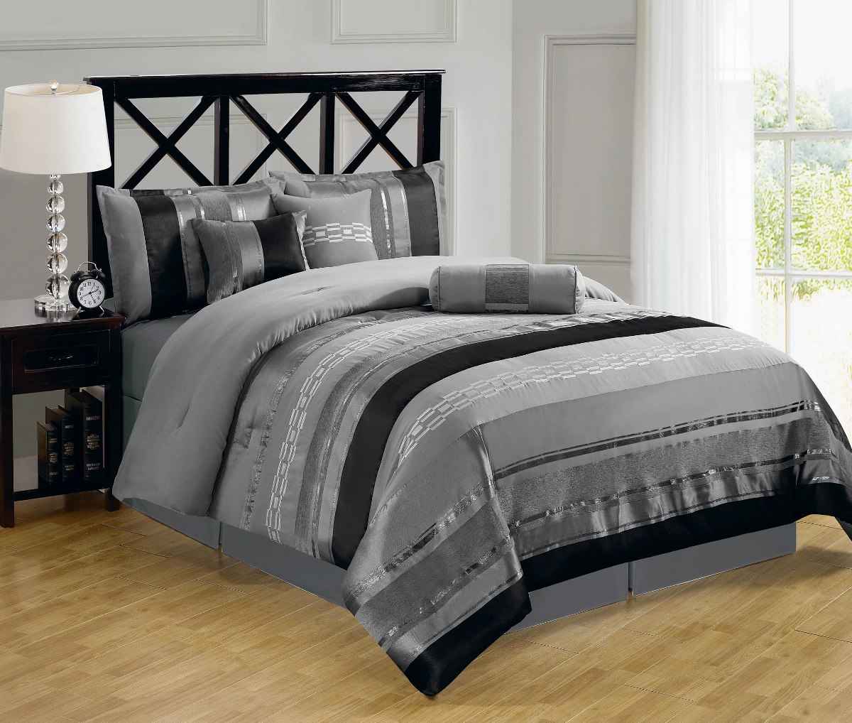 Image of: Black And White Comforter Twin