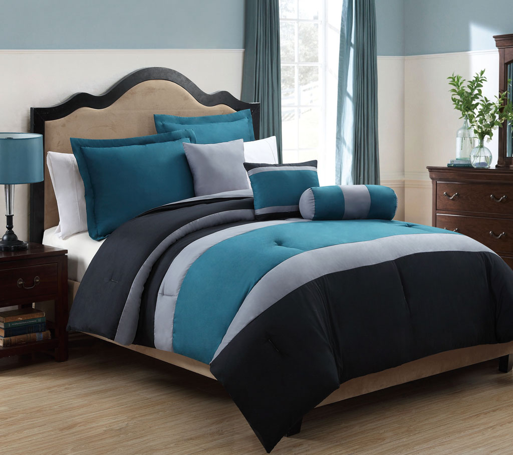 Image of: Blue and Grey Color Bedding