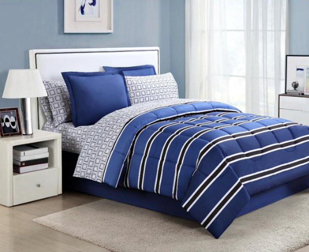 Image of: Blue Boy Bed Cover