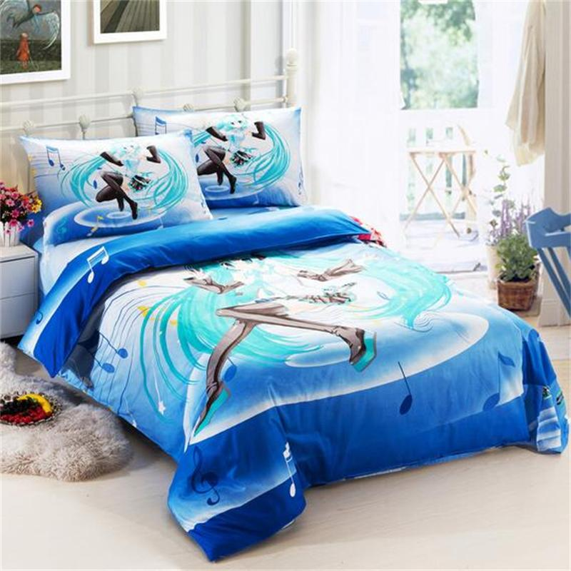 Image of: Blue Music Note Bedroom Set