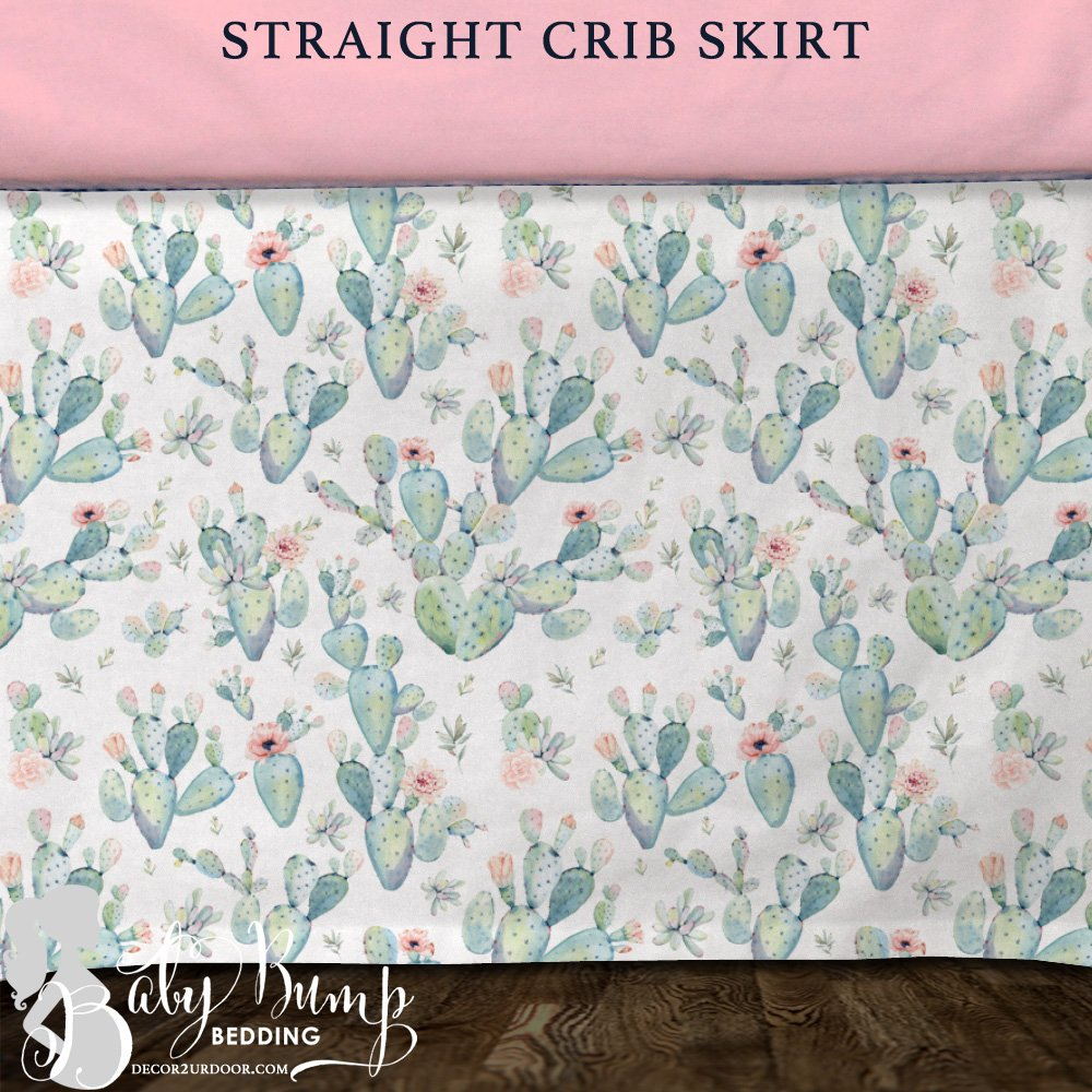 Image of: Boho Cactu Modern Baby Girl Crib Bedding Coral Baby Bedding and Accessories