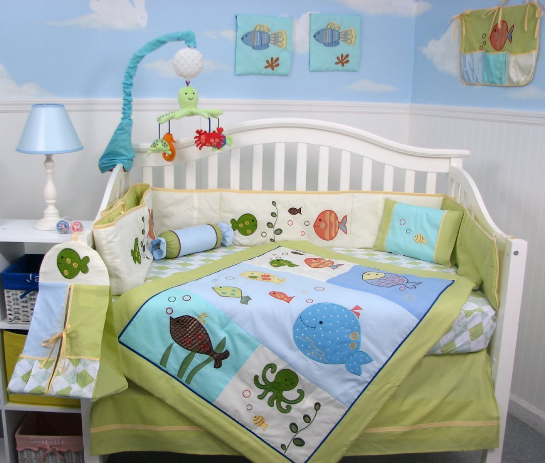 Image of: Cheap Crib Bedding Sets With Bumpers