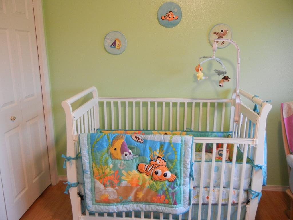 Image of: Finding Nemo Crib Bedding Set Home Furniture Design Coral Baby Bedding and Accessories