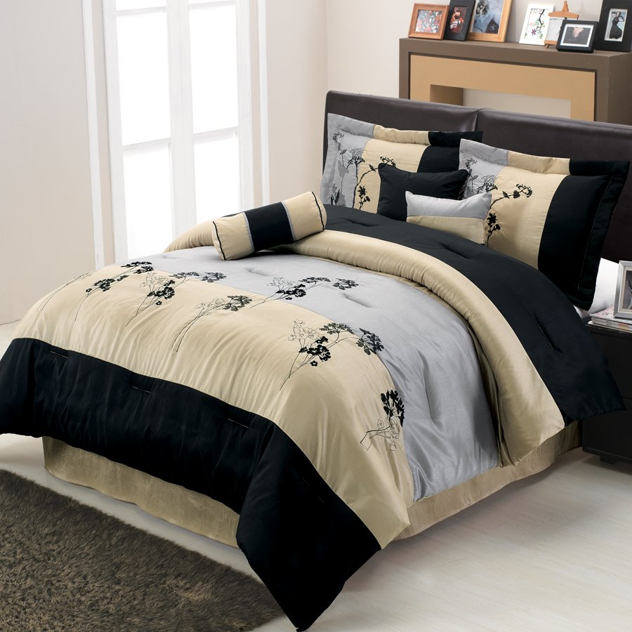Image of: Lama Floral Comforter Set Themed Music Note Bed Set