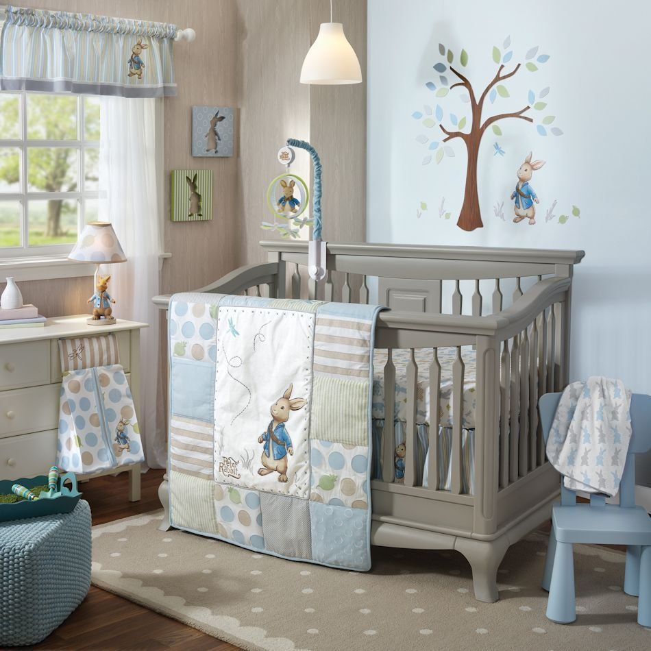 Image of: Lamb Ivy Peter Rabbit 6 Piece Baby Nursery Crib Bedding Coral Baby Bedding and Accessories