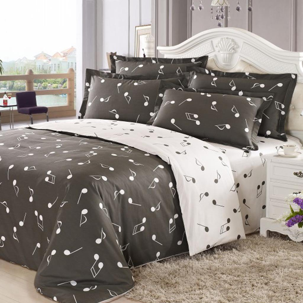 Image of: Music Bedding Set Themed Music Note Bed Set