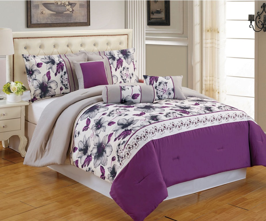 Image of: Nice Purple Bedding Sets Queen