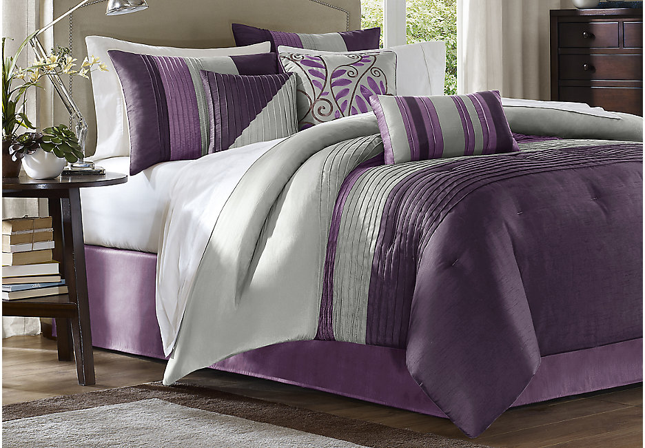 Image of: Plum Comforter Set Ideas