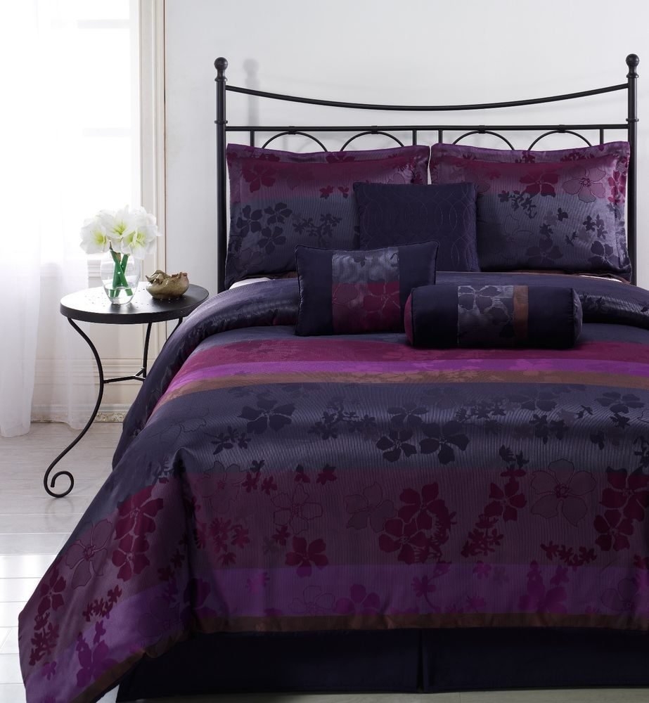 Prodigiou Comforter Set Queen Purple Comforter Set Awesome Purple Bedding Set