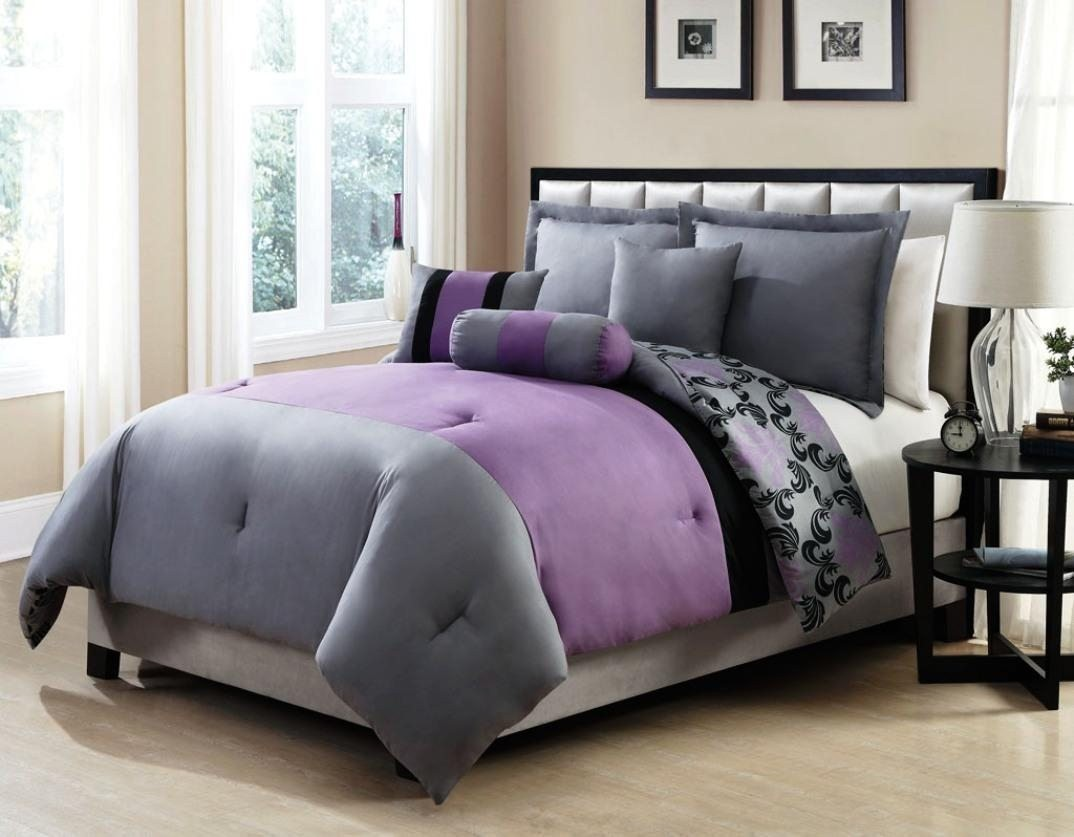 Image of: Purple Bed Sets Queen Ideas
