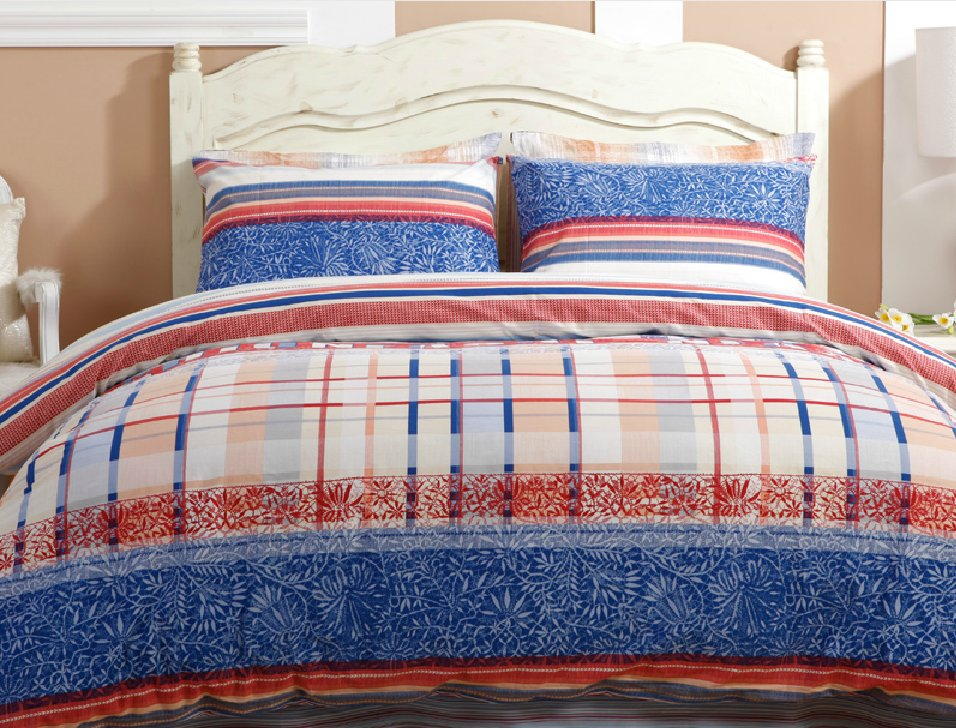 Image of: Simple Bedding Set Stunning Simple Bedding Set Decosee Buy Real Simple 174 Linear Patchwork Coral Baby Bedding and Accessories