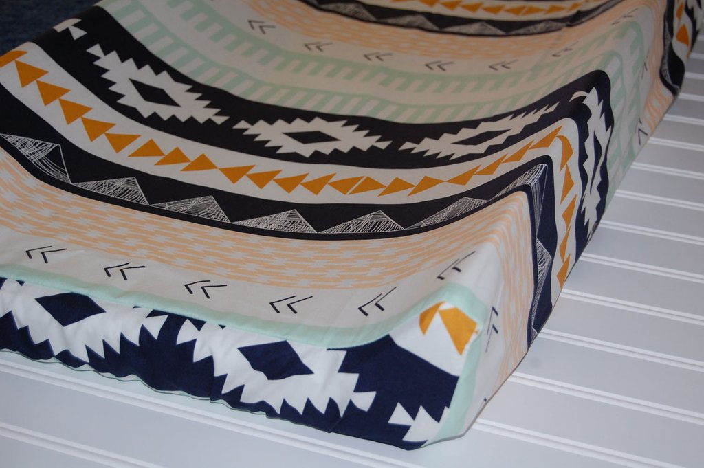Image of: Tribal Crib Sheet Aztec Crib Sheet Wanderer Fitted Crib Coral Baby Bedding and Accessories