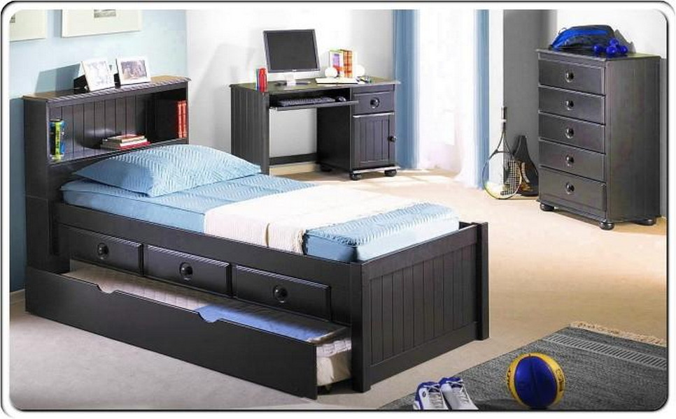 Image of: Twin Kids Boy Bed Trundle
