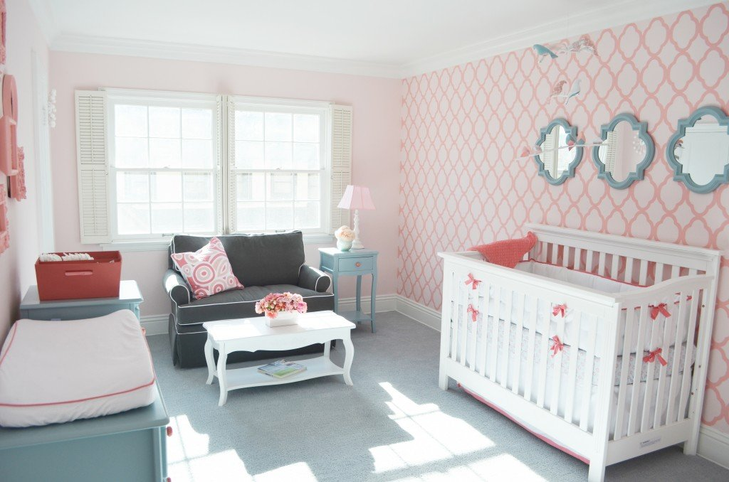 Image of: Viewed Nurseries 2018 Coral Baby Bedding and Accessories