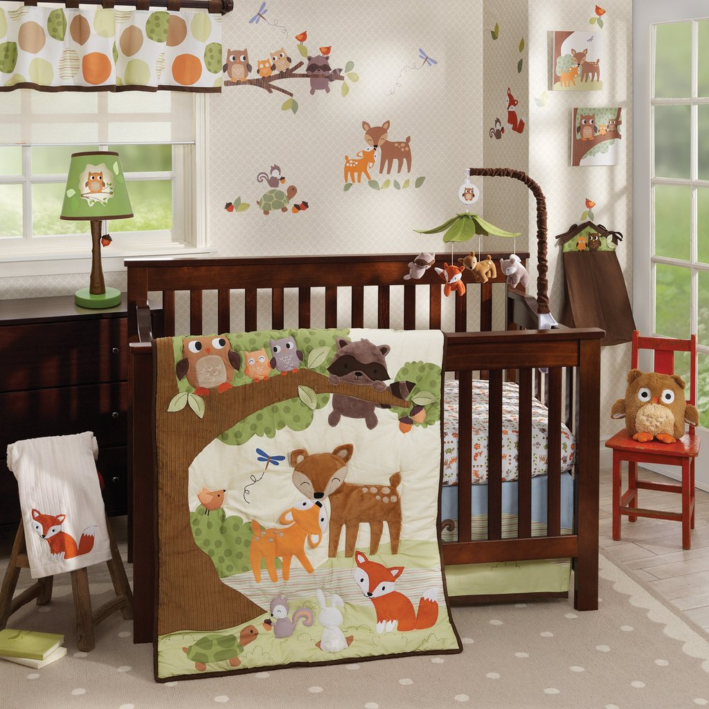 Image of: Woodland Tale Lamb Ivy   Complete Baby Bed Set