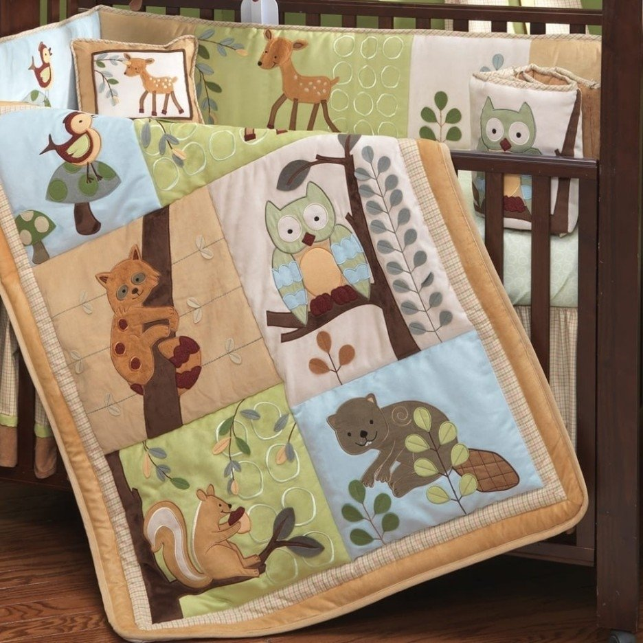 Image of: 90 Enchanted Forest Crib Bedding Enchanted Garden 4 Create A Beautiful Forest Bed Set Theme
