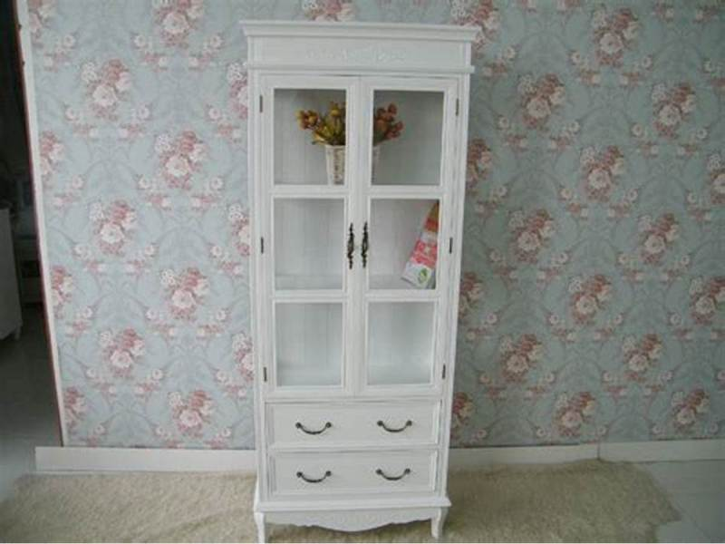 Image of: Small Armoire With Glass Door And Drawer
