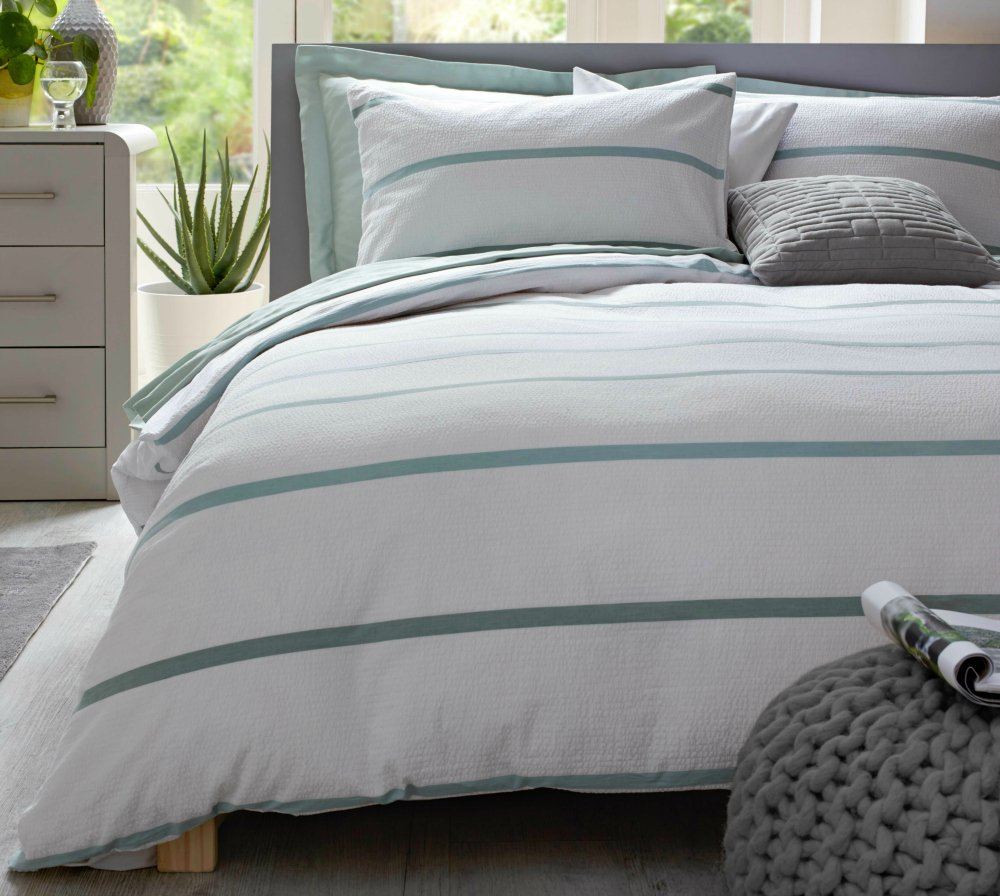 Image of: Aw17 Collection Heart House Argo Love Decorate Blue and Green Bedding Sets