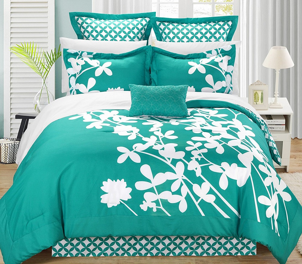 Image of: Beauty Turquoise Bedding Full