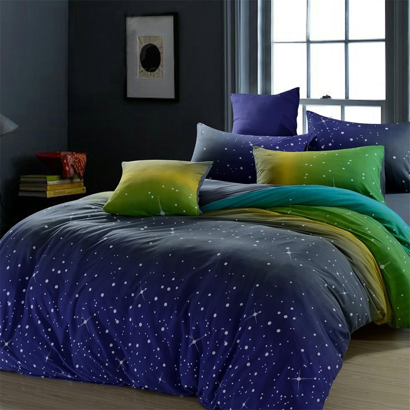 Image of: Blue and Green Amazing Bedding Sets