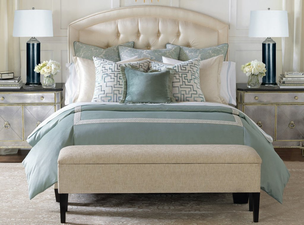 Image of: Blue Green Contemporary Bedding Set Barclay Butera Central Park Decorate Blue and Green Bedding Sets