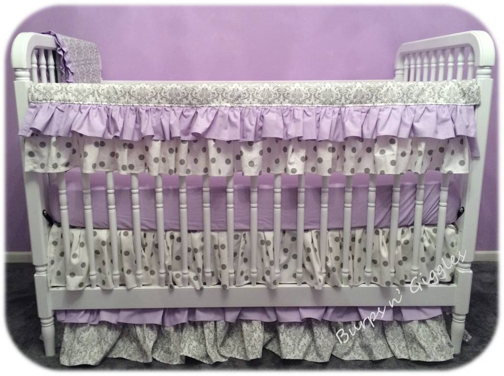 Image of: Bumperless Baby Girl Crib Set 3 Tiered Turquoise Bedding Set For Baby Theme