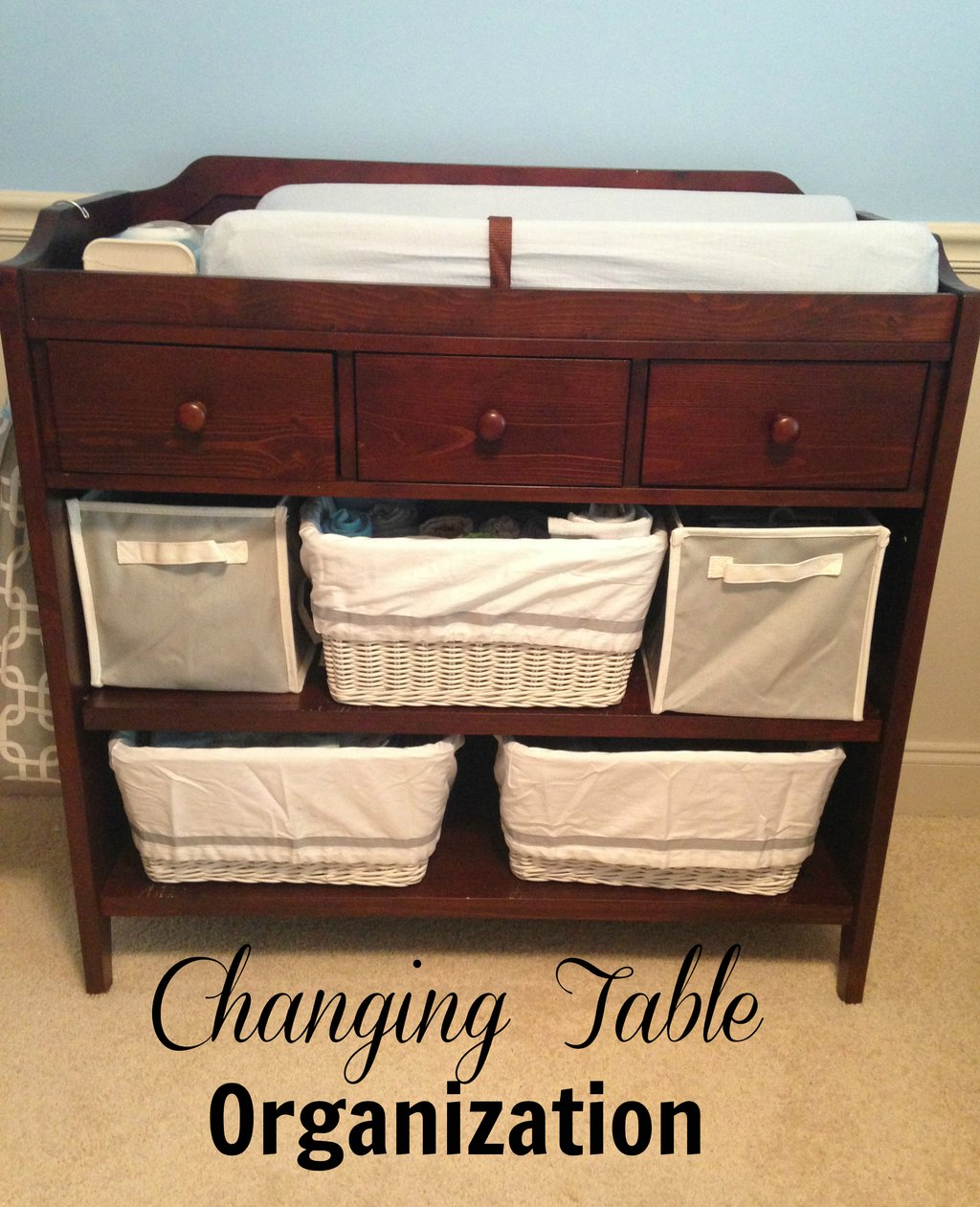 Image of: Changing Table Organization Drawer Organizing Tip Turquoise Bedding Set For Baby Theme