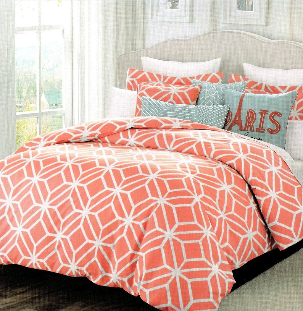 Image of: Colored Bedding 28 Image 20 Multi Colored Coral Bedding Sets for Summer Double Bedspread