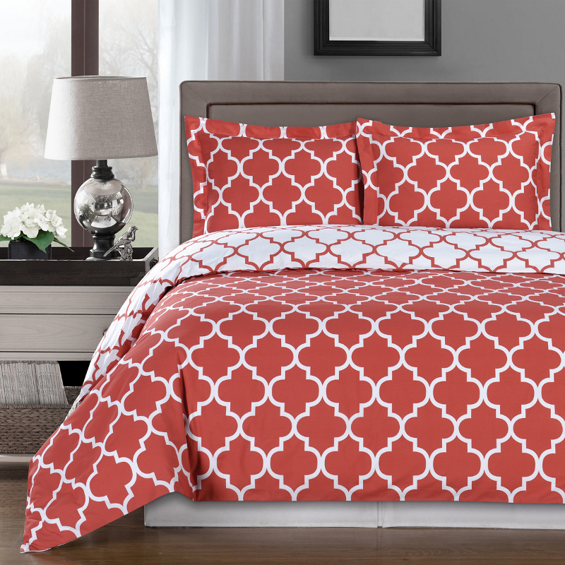 Image of: Coral And Mint Bedding