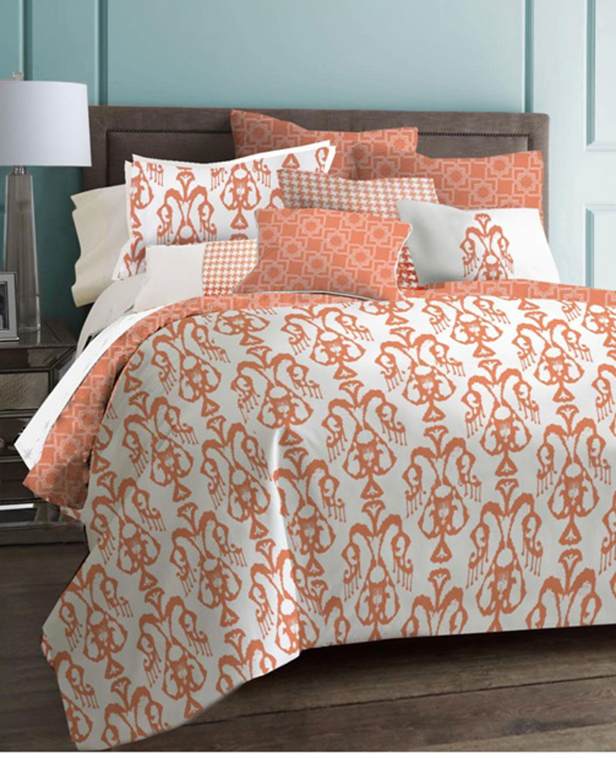 Image of: Coral And Teal Bedding Sets