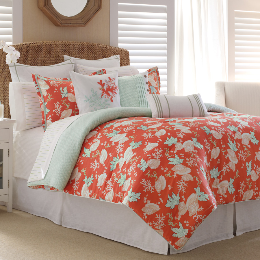 Image of: Coral Colored Bedding Sets