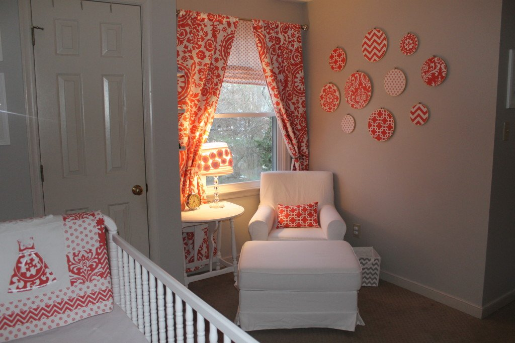Image of: Coral Gray Vintage Inspired Girl 39 Nursery Project Coral Bedding Sets for Summer Double Bedspread