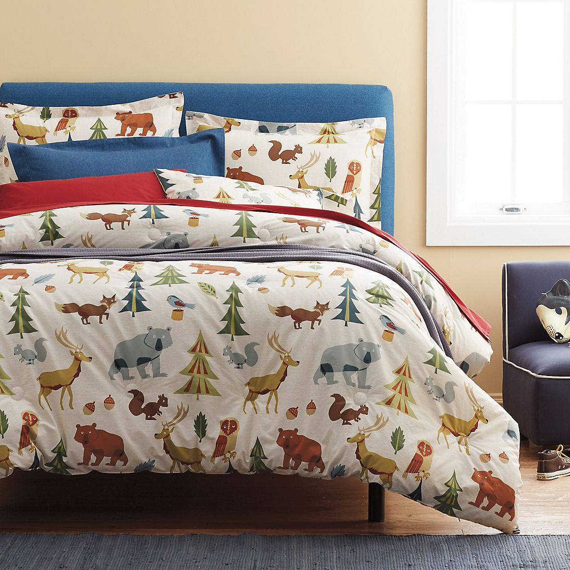 Image of: Forest Friends Bedding