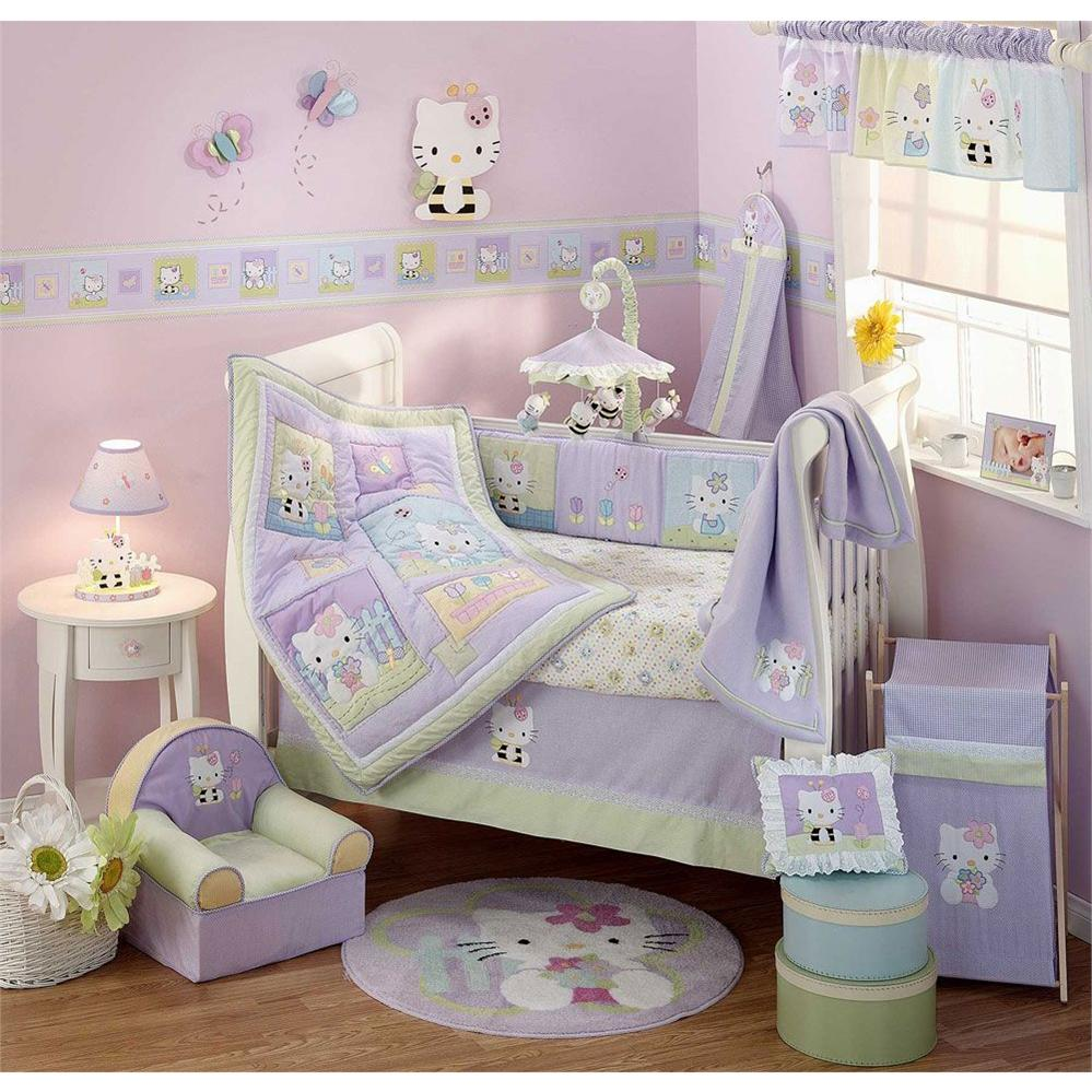 Image of: Girls Baby Bedding Color Purple