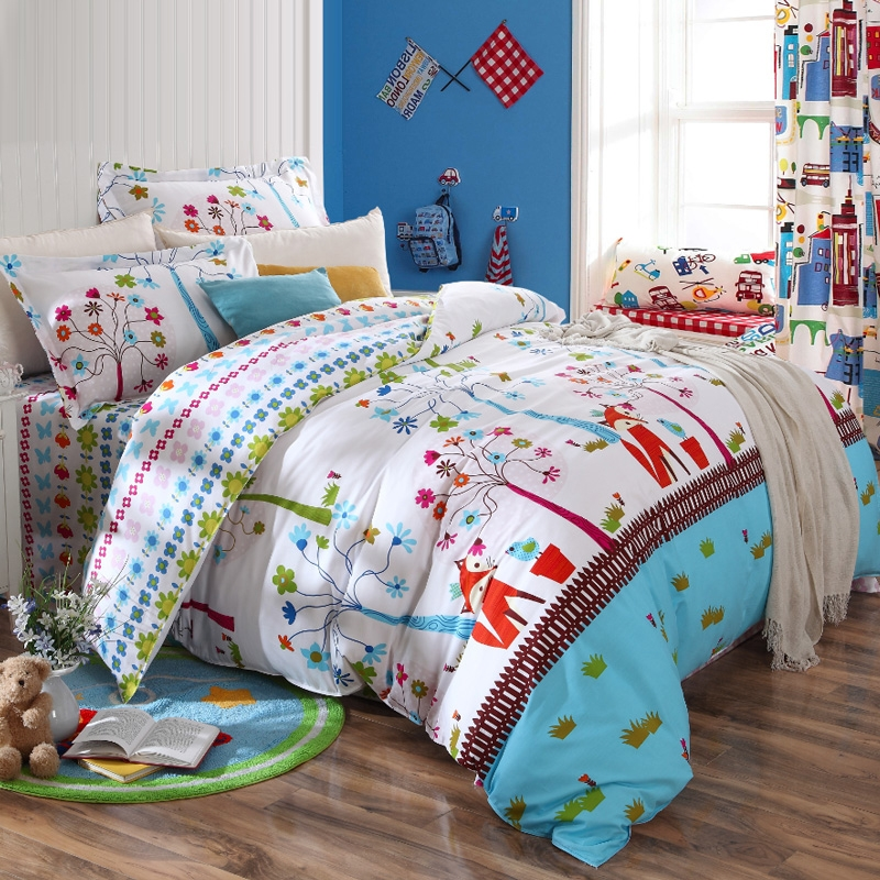 Image of: Kids Forest Bedding Theme