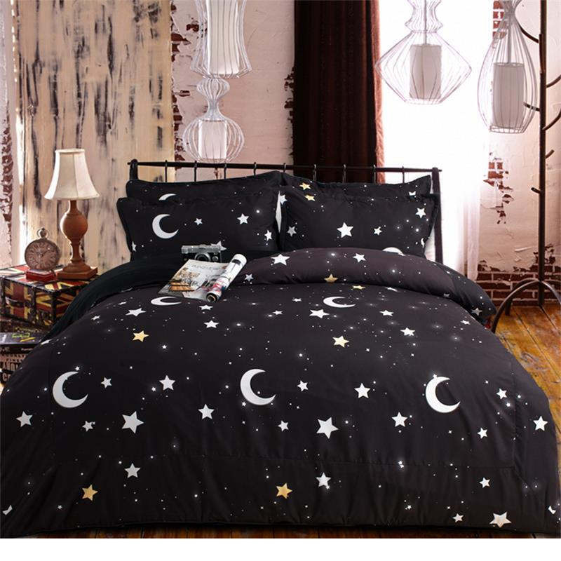 Image of: Moon and Stars Twin Bedding