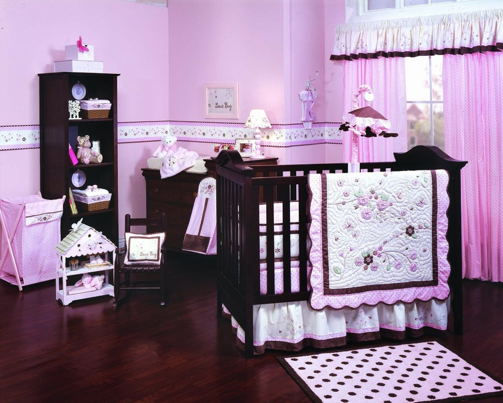Image of: Purple Crib Bedding Set Home Furniture Design Beautiful Baby Crib Bedding Sets For Girls